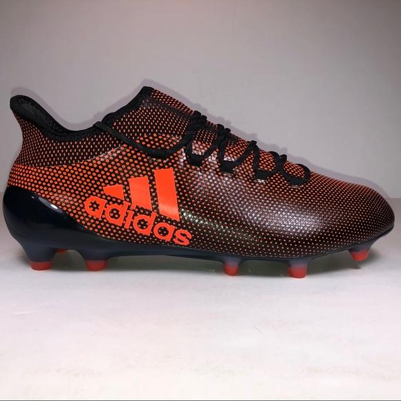 dd30538d5 adidas Shoes | X 171 Fg Black Solar Orange Soccer Cleat | Poshmark